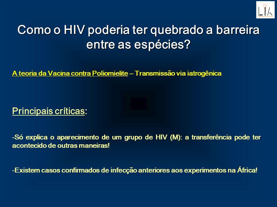 Como o HIV poderia ter quebrado a barreira entre as espécies? A teoria da Vacina contra Poliomielite – Transmissão via iatrogênica Principais críticas