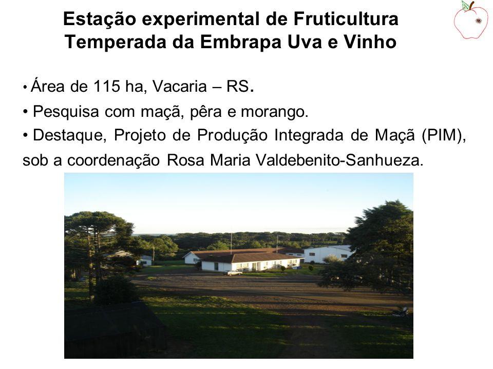 Estação experimental de Fruticultura Temperada da Embrapa Uva e Vinho Área de 115 ha, Vacaria – RS.