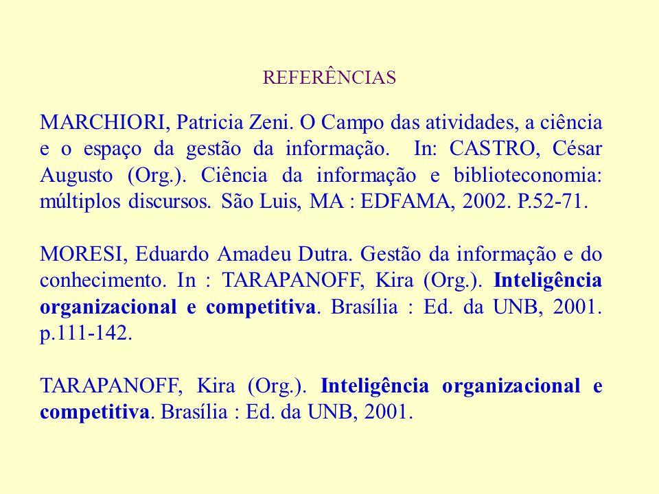 REFERÊNCIAS ARRUDA, Susana Margaret de; CHAGAS, Joseane.