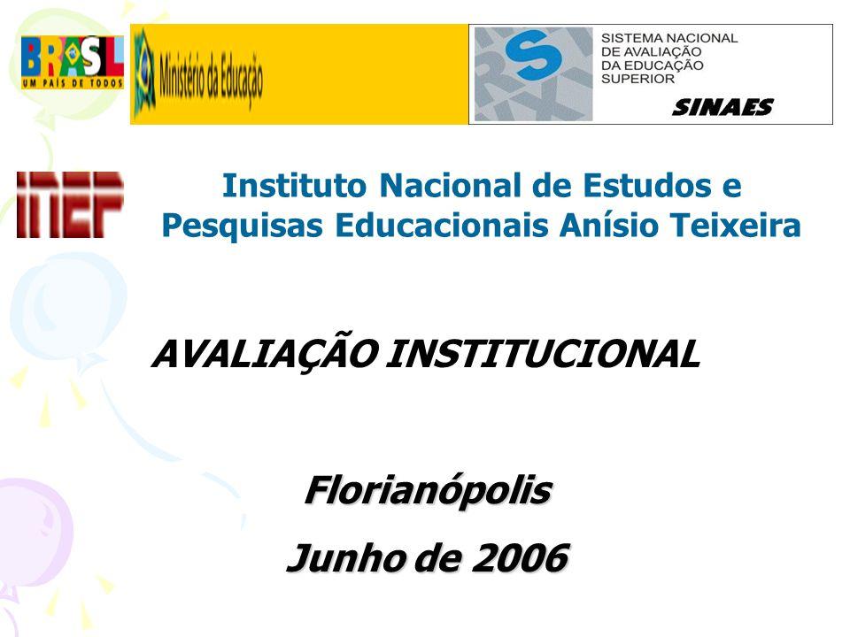 Instituto Nacional de Estudos e Pesquisas Educacionais Anísio Teixeira AVALIAÇÃO INSTITUCIONALFlorianópolis Junho de 2006