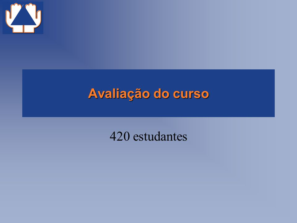 Avaliação do curso 420 estudantes