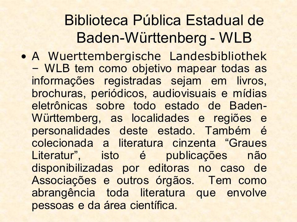 Biblioteca Pública Estadual de Baden-Württenberg - WLB As visitas orientadas presenciais são realizadas na primeira quarta-feira de cada mês iniciando às 14h30 min e às 18h.
