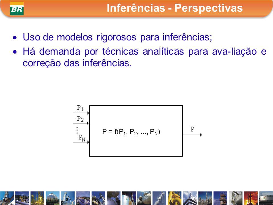 Uso de modelos rigorosos para inferências; Há demanda por técnicas analíticas para ava-liação e correção das inferências. Inferências - Perspectivas P