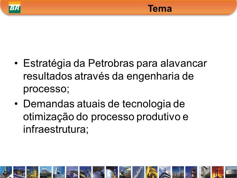 Estratégia da Petrobras para alavancar resultados através da engenharia de processo; Demandas atuais de tecnologia de otimização do processo produtivo