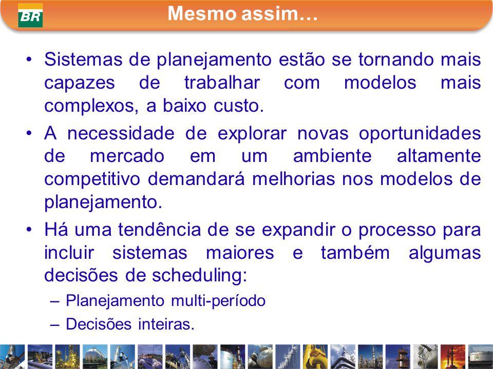 Mesmo assim… Sistemas de planejamento estão se tornando mais capazes de trabalhar com modelos mais complexos, a baixo custo. A necessidade de explorar