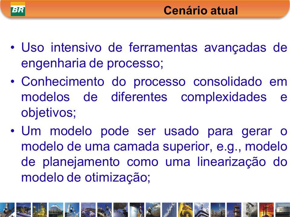 Uso intensivo de ferramentas avançadas de engenharia de processo; Conhecimento do processo consolidado em modelos de diferentes complexidades e objeti