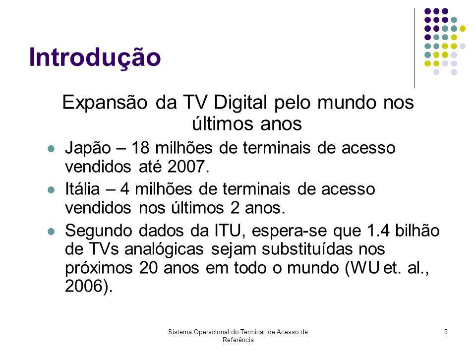Sistema Operacional do Terminal de Acesso de Referência 6 Linha do Tempo – TV Digital no Brasil