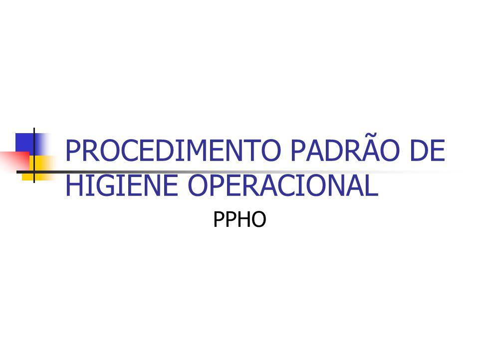 PROCEDIMENTO PADRÃO DE HIGIENE OPERACIONAL PPHO