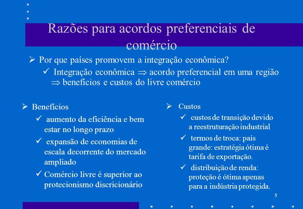 4 O Novo Regionalismo Velho Regionalismo – 1950-60: Exemplo – Alalc.