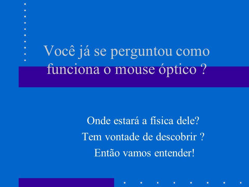 Você já se perguntou como funciona o mouse óptico .