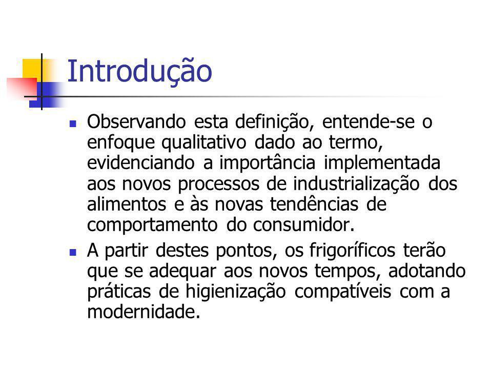 Introdução Observando esta definição, entende-se o enfoque qualitativo dado ao termo, evidenciando a importância implementada aos novos processos de i