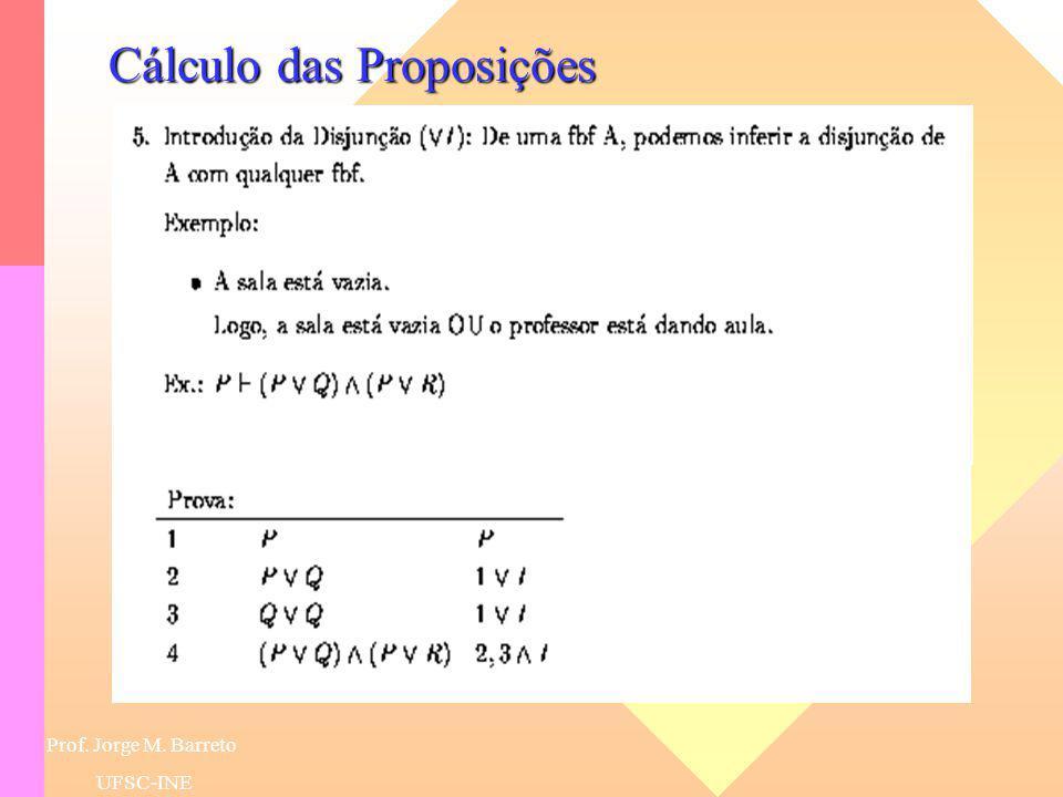 Prof. Jorge M. Barreto UFSC-INE Lógicas das Proposições