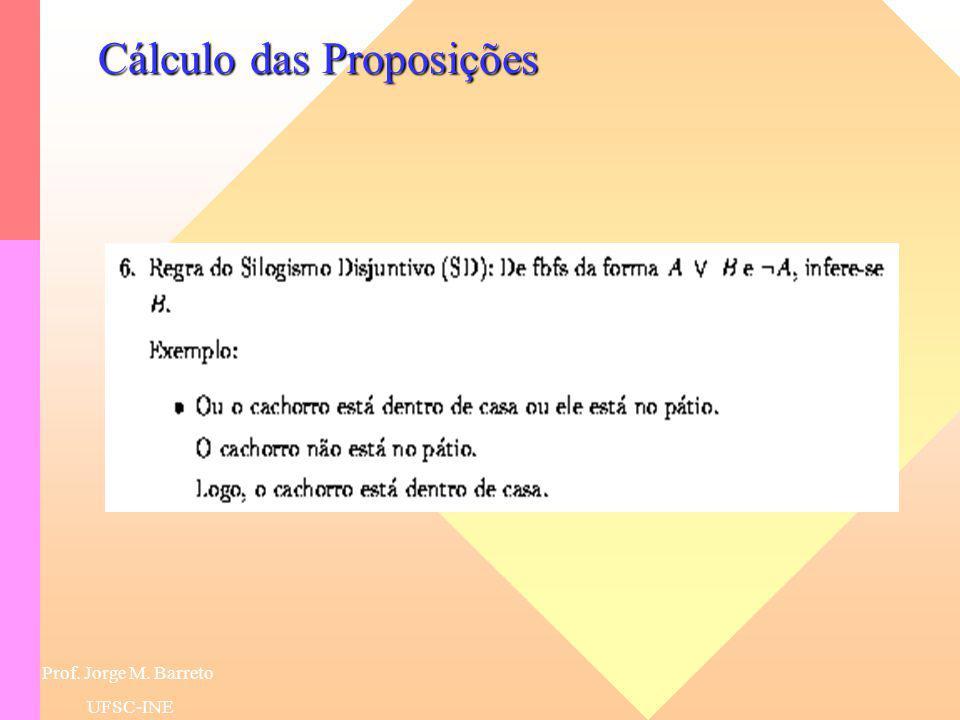 Prof. Jorge M. Barreto UFSC-INE Cálculo das Proposições