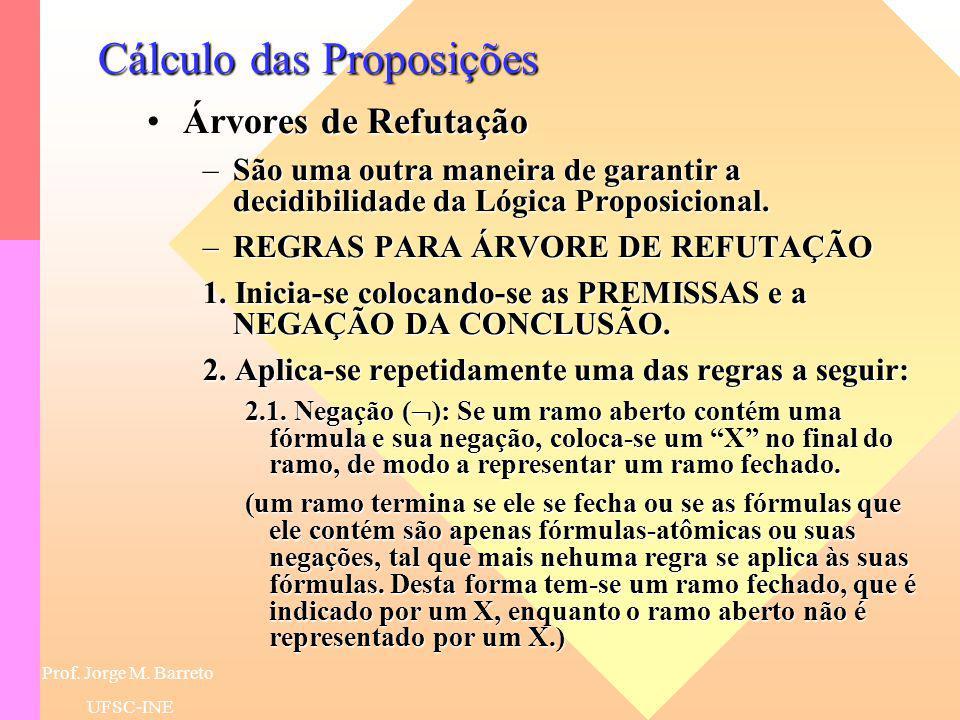 Prof. Jorge M. Barreto UFSC-INE Cálculo das Proposições EquivalênciaEquivalência –É um bicondicional que é um teorema.
