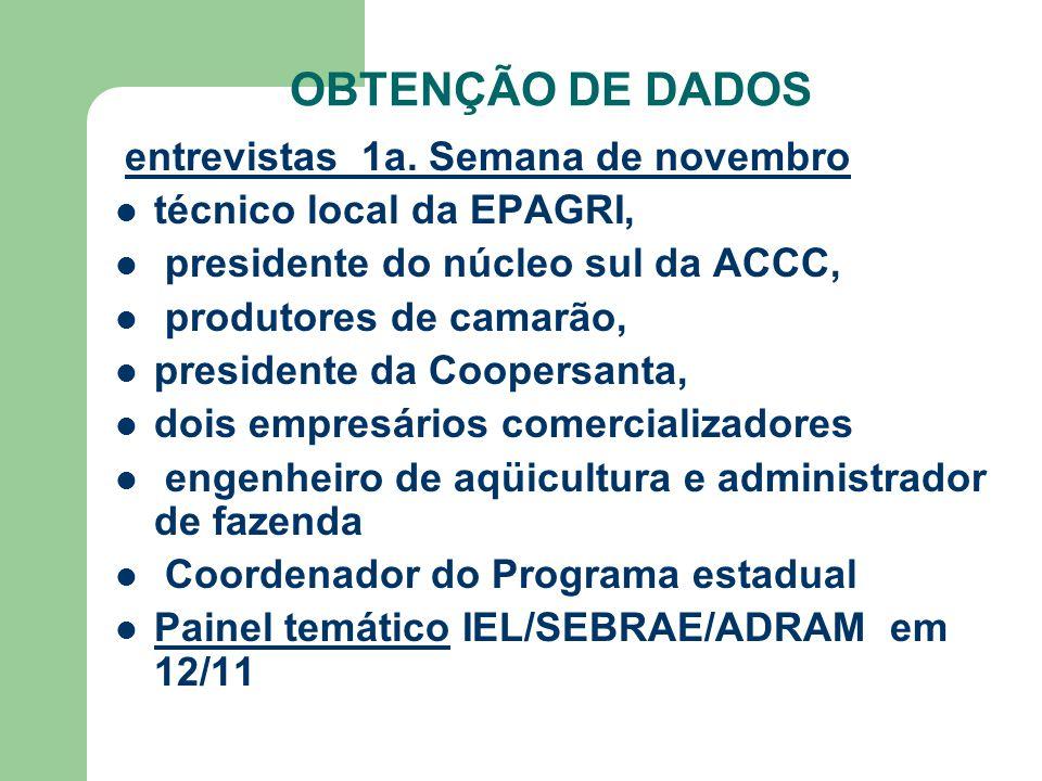 OBTENÇÃO DE DADOS entrevistas 1a.