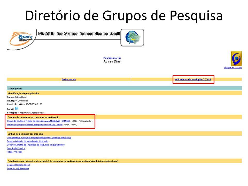 Diretório de Grupos de Pesquisa