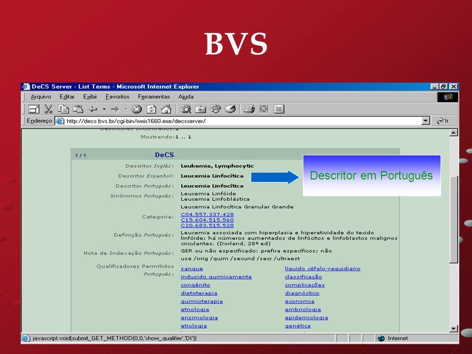 BVS Descritor em Português