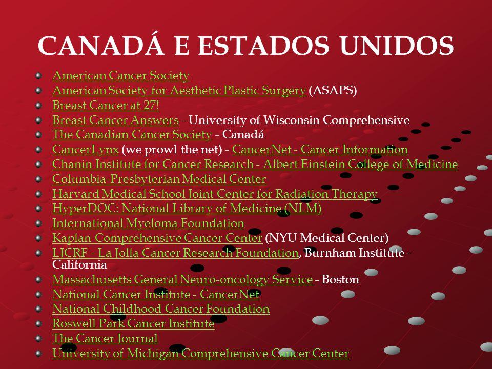 CANADÁ E ESTADOS UNIDOS American Cancer Society American Society for Aesthetic Plastic SurgeryAmerican Society for Aesthetic Plastic Surgery (ASAPS) B