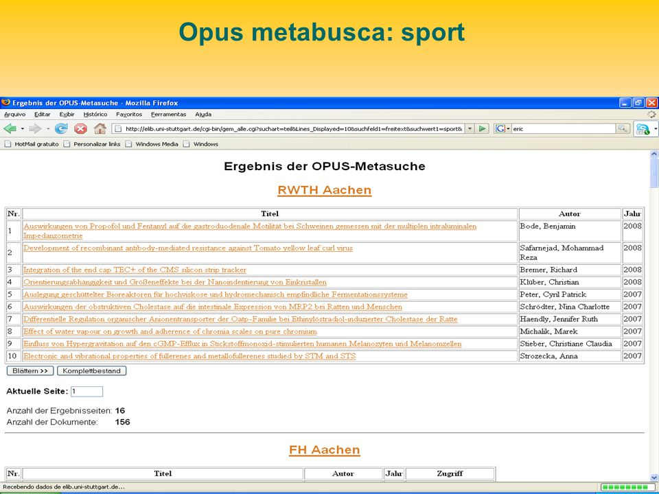 Opus metabusca: sport