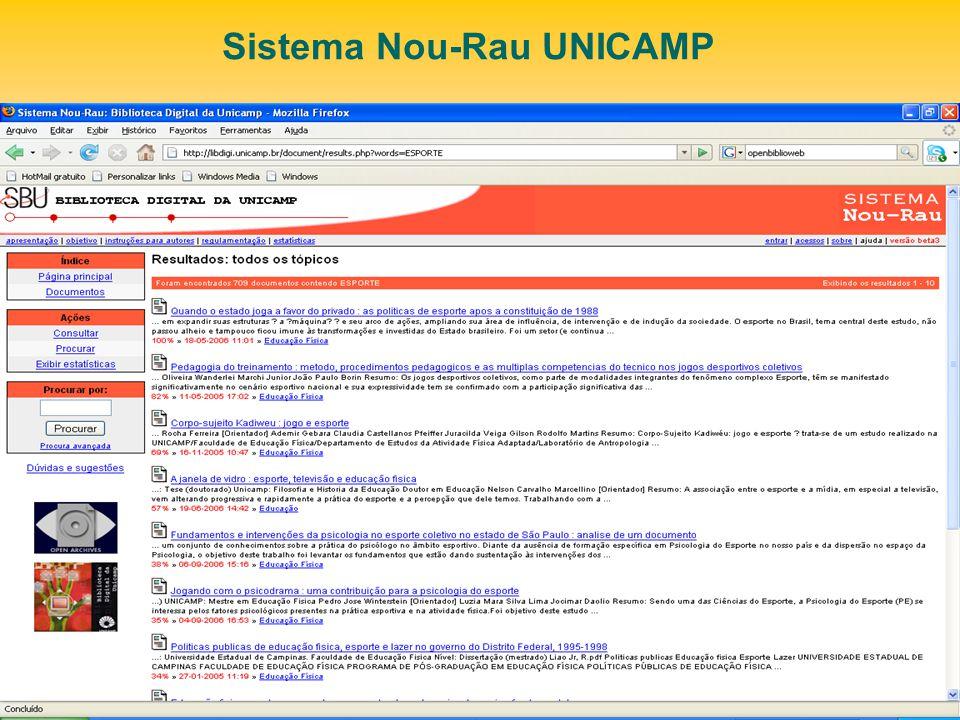 Sistema Nou-Rau UNICAMP