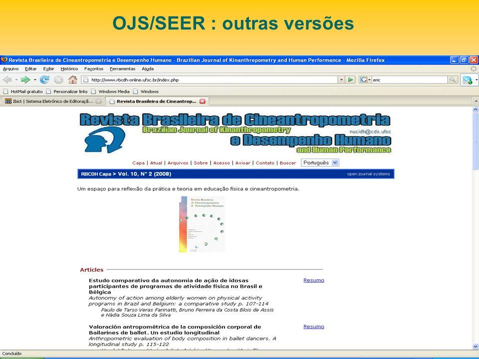OJS/SEER : outras versões