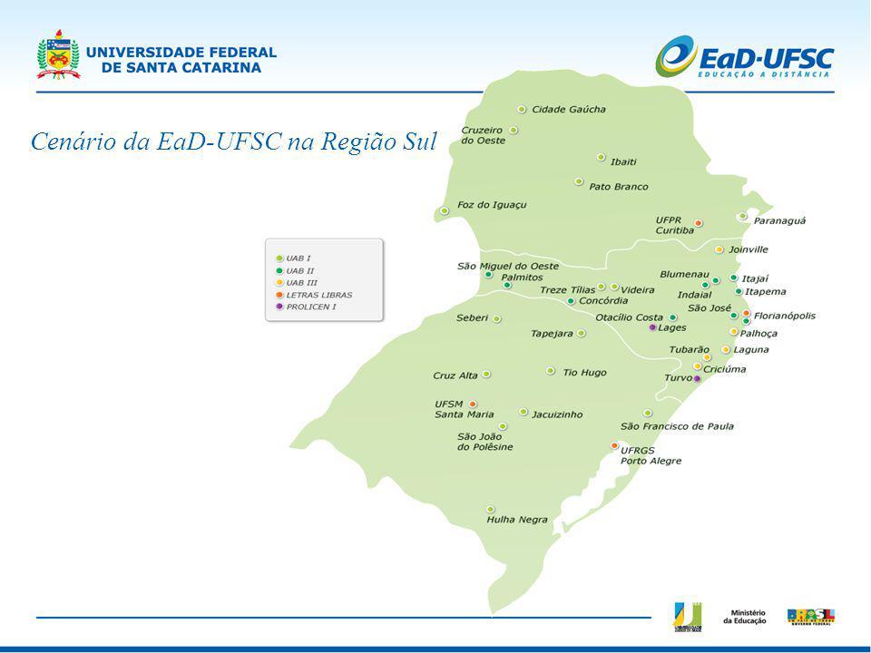 Cenário da EaD-UFSC na Região Sul