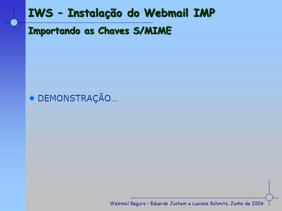 Webmail Seguro - Eduardo Juchem e Luciana Schmitz.
