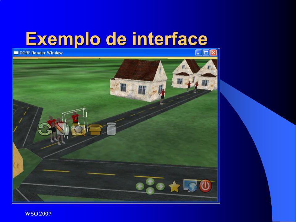 WSO 2007 Exemplo de interface