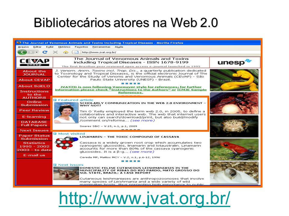 http://www.jvat.org.br/ Bibliotecários atores na Web 2.0