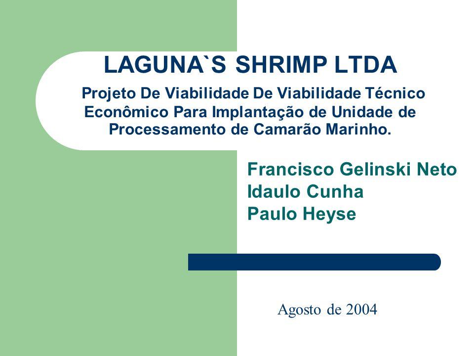 LAGUNA`S SHRIMP LTDA Projeto De Viabilidade De Viabilidade Técnico Econômico Para Implantação de Unidade de Processamento de Camarão Marinho. Francisc