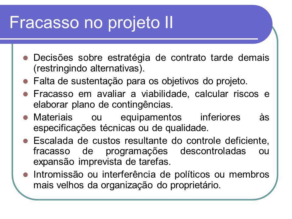 Fracasso no projeto III (KEELING, 2006, p.