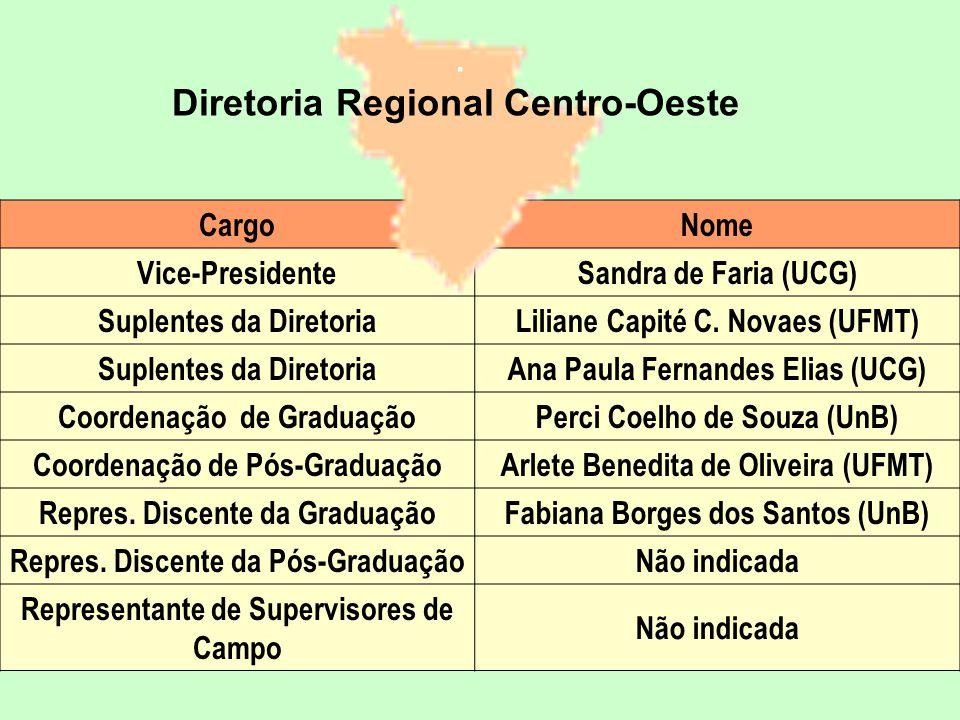 CargoNome Vice-PresidenteSandra de Faria (UCG) Suplentes da DiretoriaLiliane Capité C.
