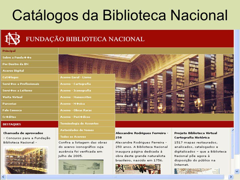 Catálogos da Biblioteca Nacional