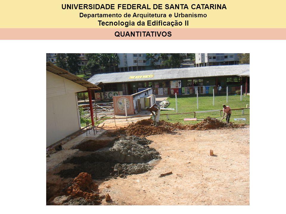 UNIVERSIDADE FEDERAL DE SANTA CATARINA Departamento de Arquitetura e Urbanismo Tecnologia da Edificação II QUANTITATIVOS TCPO FERRAGEM (ARMADURA) CA-50A ou CA-50B média (1/4a 3/8) (0,6 a 0,9 mm) - UNIDADE: kg Componentesconsumos Ferro (Aço)1,15 kg Arame recozido0,02 kg Armador0,08 h Servente0,08 h 7,35 x 1,15 = 8,45 kg 7,35 x 0,02 = 0,15 kg 7,35 x 0,08 = 0,59 h