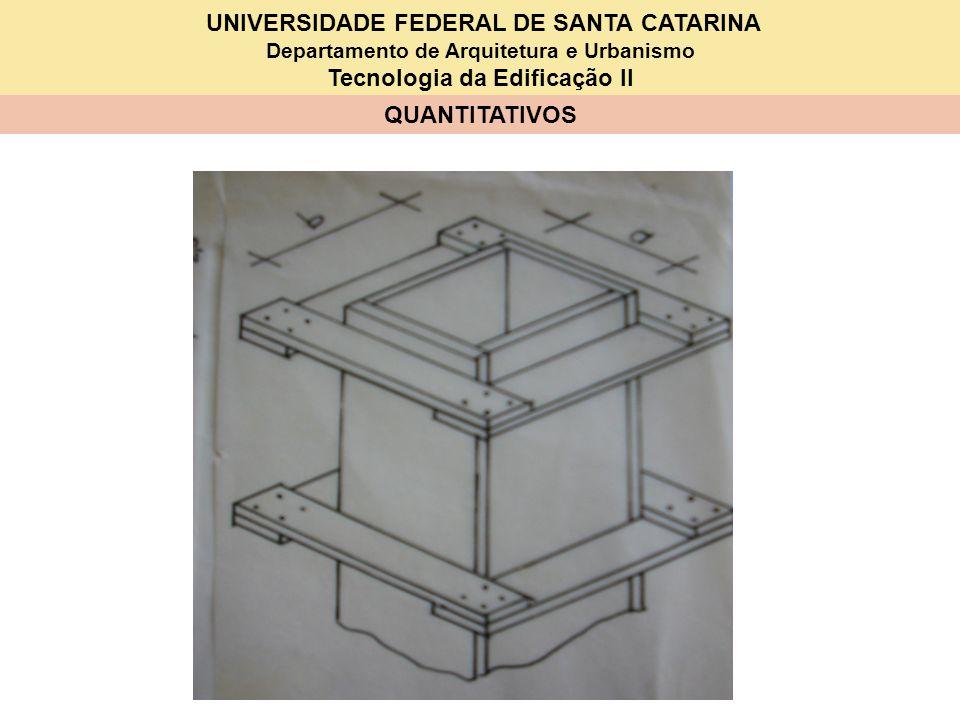 UNIVERSIDADE FEDERAL DE SANTA CATARINA Departamento de Arquitetura e Urbanismo Tecnologia da Edificação II QUANTITATIVOS