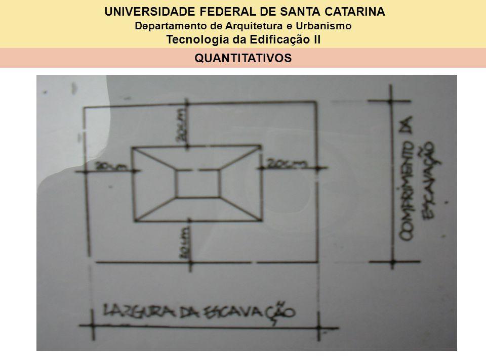 UNIVERSIDADE FEDERAL DE SANTA CATARINA Departamento de Arquitetura e Urbanismo Tecnologia da Edificação II QUANTITATIVOS 1 – SAPATAS –S1B (80x90x15x20x25x10x100) ITEM DISCRIMINAÇÃO QUANT.UNID.P R E Ç O (Em R$) UNITÁRIOTOTAL 1Serviços em terra 1.1Escavação ( 2,028 m 3 ) 1.2Reaterro ( 1,803 m 3 ) 2 Lastro 2.1Brita 0,078 m 3 3 Fôrmas ( 1,47 m 2 ) 3.1 Tábuas 2,5x20x250 4 un 3.2 Prego 0,31 kg 4Armadura ( 7,35 kg) 4.1 Aço CA 50 8,45 kg 4.2 Arame recozido 0,15 kg 5 Concreto (0,147 m 3 ) 5.1 Cimento 49,83 kg 5.2 Areia 0,071 m 3 5.3 Brita 0,117 m 3 6 Mão-de-obra 6.1 Carpinteiro 2,26 h 2,26 6.2 Armador 0,59 h 0,59 6.3 Pedreiro 2,23 h 0,81 + 0,88 +0,54 6.4 Servente/ajudante 15,33 h 4,46 +0,19 +2,26 +0,88 + 1,54 +0,59 +5,41