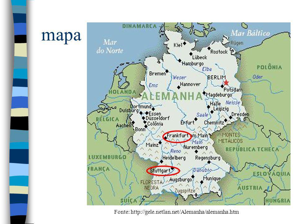 mapa Fonte: http://gele.netlan.net/Alemanha/alemanha.htm