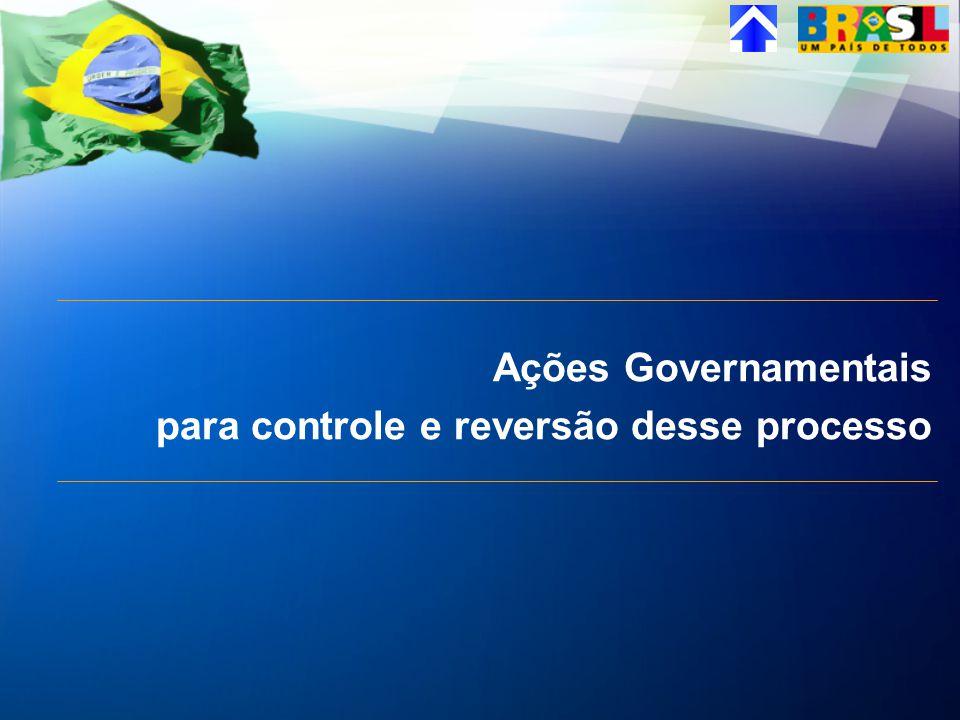 Ações Governamentais para controle e reversão desse processo