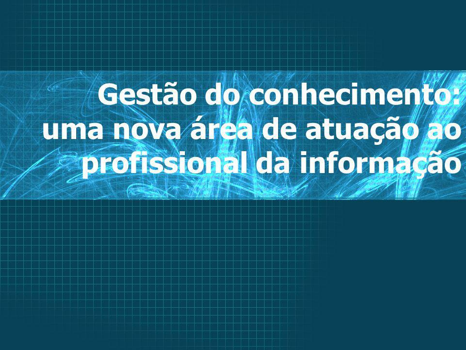 Gestão do conhecimento: uma nova área de atuação ao profissional da informação