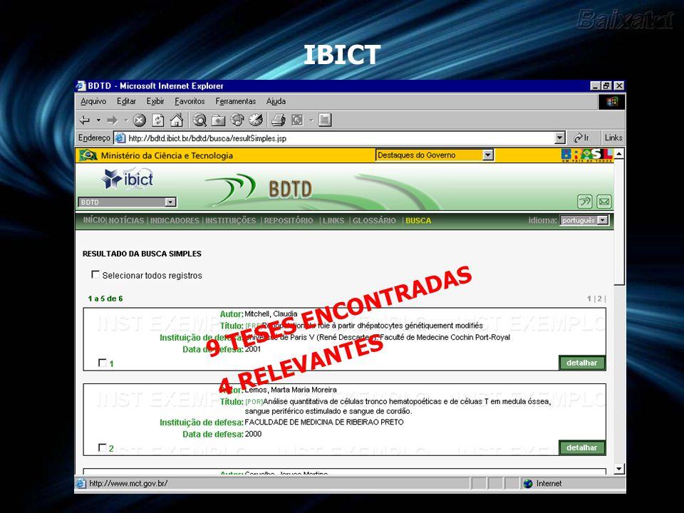 BU - UFSC 5 Artigos Relevantes 2 Teses – 4 Dissertações Relevante 1 Tese - 2 Dissertações