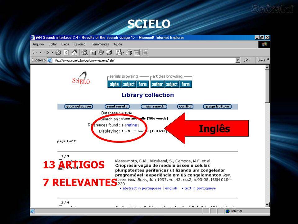 IBICT 9 TESES ENCONTRADAS 4 RELEVANTES