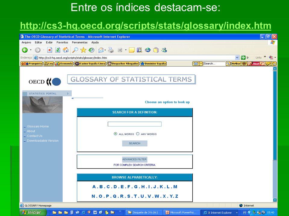 RESULTADOS Encontramos 29 índices e indicadores, sendo 19 em português, 07 em inglês, 01 em espanhol, 01 em inglês/francês e 01 em espanhol/inglês/chi