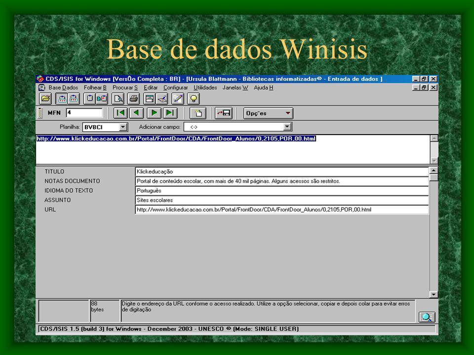 Base de dados Winisis