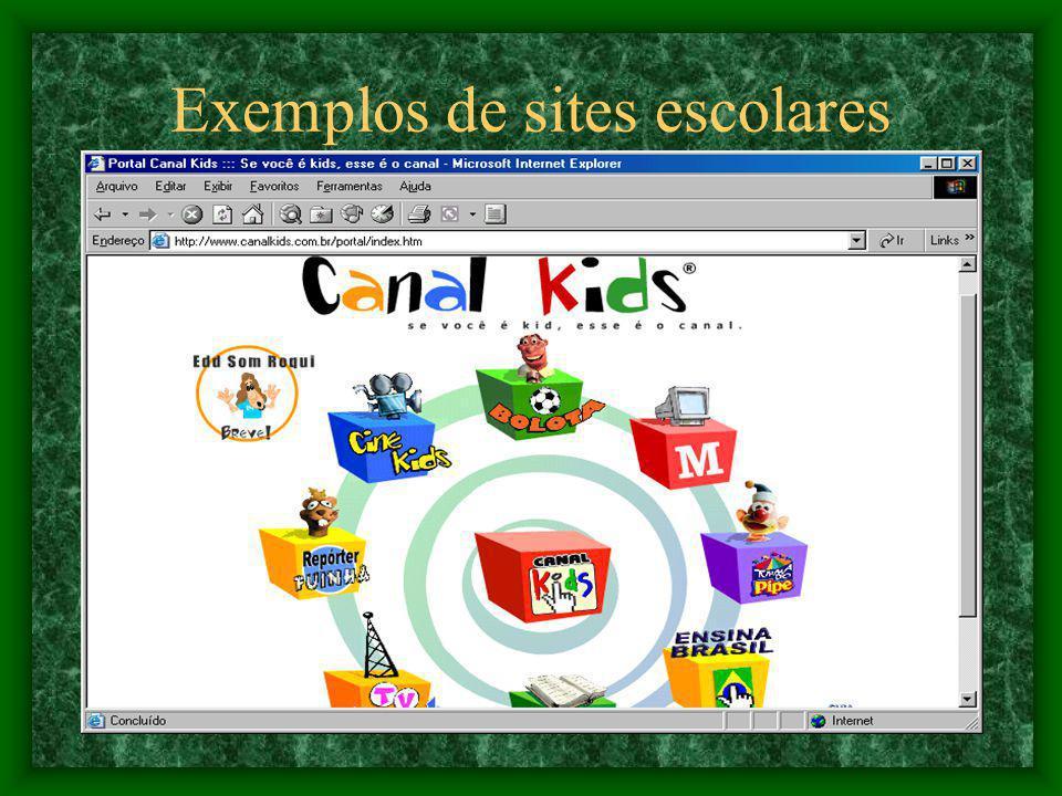 Exemplos de sites escolares