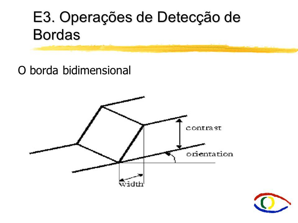 E3. Operações de Detecção de Bordas O borda bidimensional