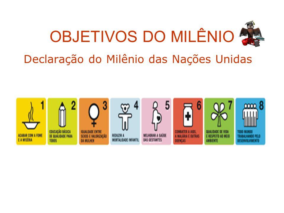 OBJETIVOS DO MILÊNIO Declaração do Milênio das Nações Unidas