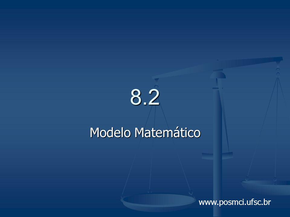 www.posmci.ufsc.br 8.2 Modelo Matemático