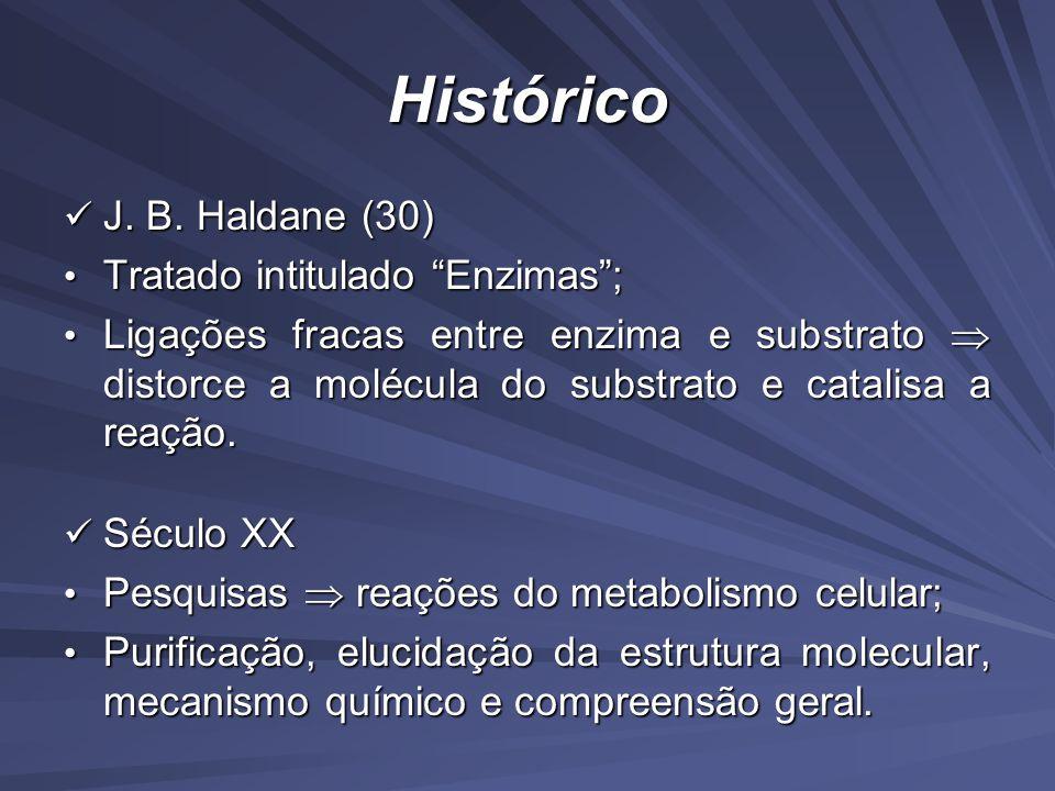 Conceito Catalisadores biológicos: longas cadeias de moléculas pequenas aminoácidos; Catalisadores biológicos: longas cadeias de moléculas pequenas aminoácidos; Função: viabilizar a atividade das células, quebrando e juntando moléculas; Função: viabilizar a atividade das células, quebrando e juntando moléculas; Elevado grau de especificidade ao substrato; Elevado grau de especificidade ao substrato; Específicas: ligações químicas e isômeros ópticos.