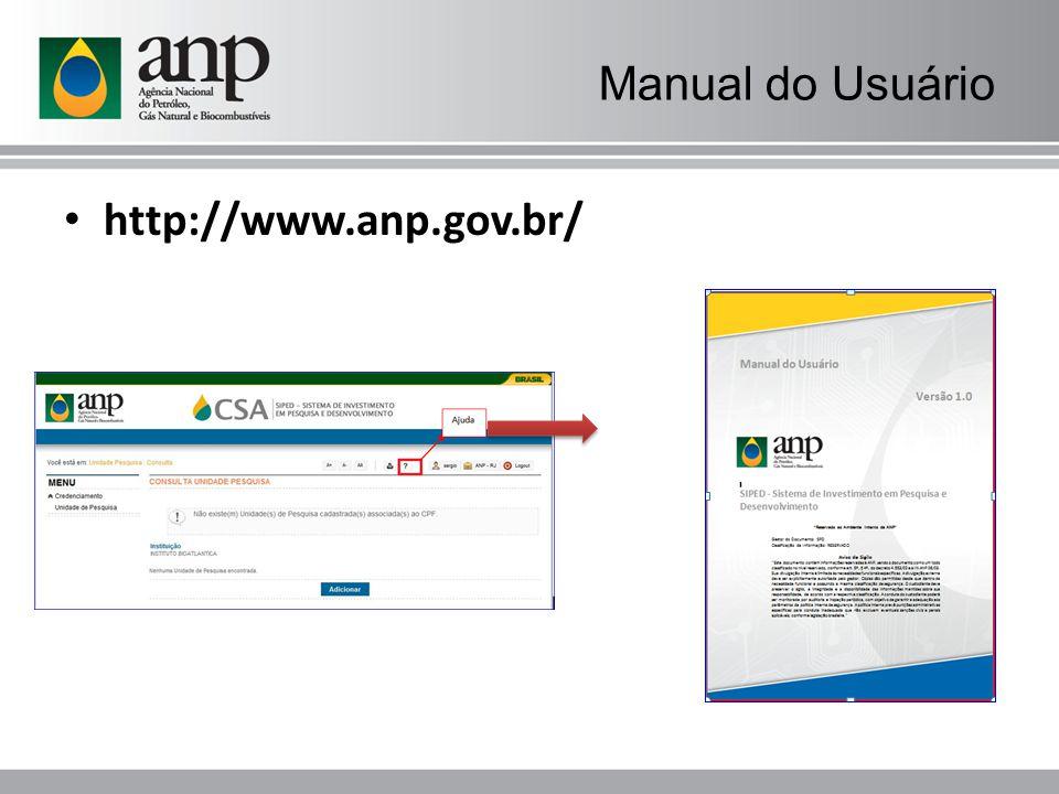 Manual do Usuário http://www.anp.gov.br/