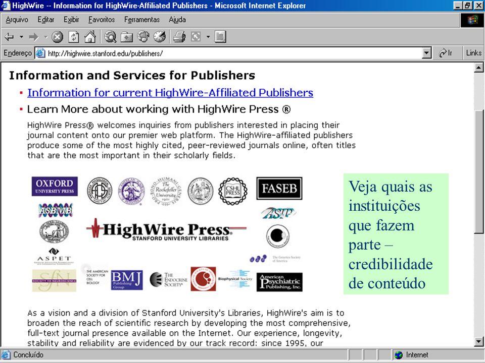 Veja quais as instituições que fazem parte – credibilidade de conteúdo